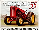 Massey Harris 55 Tin Sign 16 x 13in