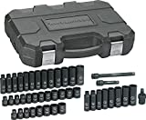 "Automotive : GearWrench 84916N SAE/Metric 3/8"" Drive Impact Socket Set (44 Piece)"