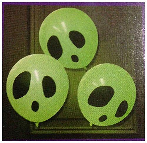 (6 Light Up Balloons Glow In The Dark W/ Glow Sticks Halloween Party)