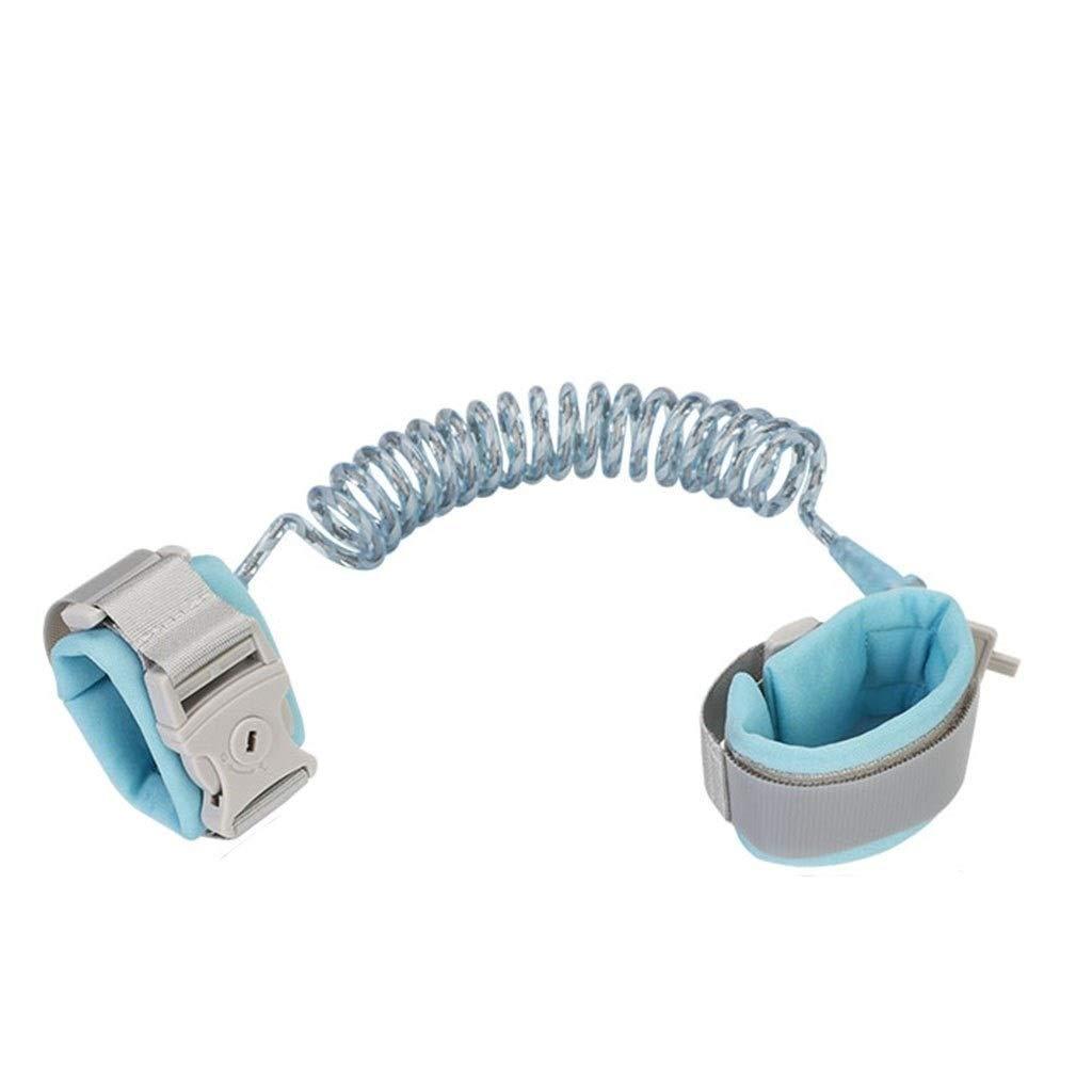 Children's Wrist Chain, Anti-Lost Wrist Buckle (Color : Blue)