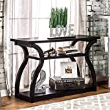 Furniture of America Sara Black 2-Shelf Modern Console Table Review