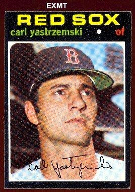 1971 Topps Regular (Baseball) Card# 530 Carl Yastrzemski of the Boston Red Sox VGX Condition