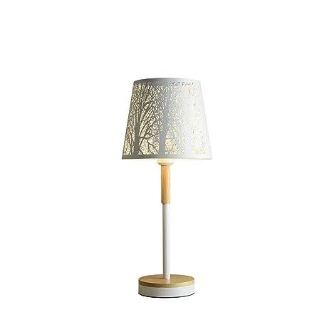 FTLY Nordic Calado Lámpara de mesa tallada Dormitorio ...