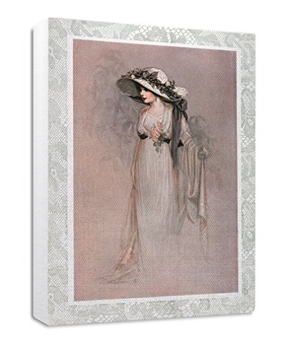 Ivory Dress Vintage Poster Streched Canvas Wrap Frame Print Wall Décor - White Border, 20