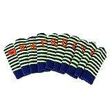Baoblaze 10pcs Golf Club Iron Head Covers Set Knit Sock Sleeve Headcover