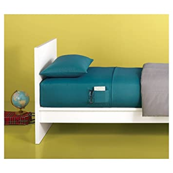 dorm bed xl twin microfiber sheet set with storage pocket cloudy turquoise - Dorm Bed Frame
