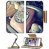 MSD Premium Apple iPhone 6 Plus iPhone 6S Plus Flip Pu Leather Wallet Case iPhone6 Plus Vintage telephone 35414795