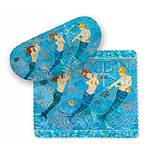 Underwater Mermaids Sunglasses Case and Matching Lens Cloth