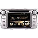 GPS Navigation Android 8.0 Car Stereo CD DVD Player In Dash Radio with 6.2 LCD Bluetooth Multimedia System for TOYOTA Hilux 2012- (Android 8.0)