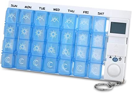 Pastillero Homclo 7 días 4 compartimentos para días de semana multicolor Caja para medicamentos Caja para guardar pastillas semanales Caja para pastillas: Amazon.es: Belleza