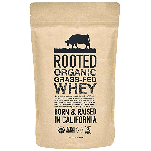 Rooted 100% Organic Grass Fed Whey Protein Powder For Sale