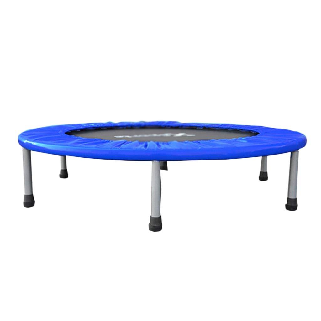 Gartentrampoline Trampolin-Kinderspielzeug-Sprungbett Indoor-Fitness-Trampolin-Trampolin Springbett für Haushaltskinder für Kinder mit 100kg (Farbe : Blau, Größe : 100  100  22cm)