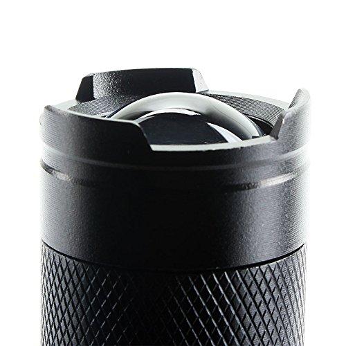Mini 1200LM Q5LED Lampe de poche, portable Preuve Zoomable 3modes en alliage d'aluminium puissant Stylo d'éclairage lampe torche lampe pour randonnée extérieur Noir
