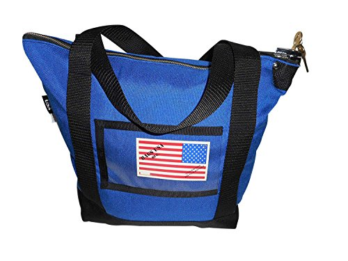 Deposit Bag,bank Bag,documents or Courier with 2 Pop Lock &2 Keys, Made in USA (Blue) by BAGS USA