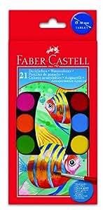Faber-Castell - Juego de acuarelas (21 colores)