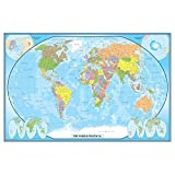 24x36 World Classic Wall Map Poster Mural Laminated by Swiftmaps
