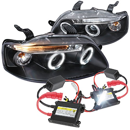 - Spec-D Tuning 2LHP-AVE045JM-TM Chevy Aveo Aveo5 4Dr Black LED Halo Projector Head Lights
