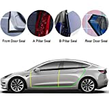 BASENOR Tesla Model 3 Door Seal Kit Soundproof Rubber Weather Draft Seal Strip Wind Noise Reduction Kit