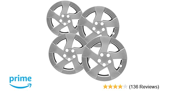 Amazon.com: OxGord 15 inch Hubcaps Best for - Toyota Prius - (Set of 4) Wheel Covers 15in Hub Caps Silver Rim Cover - Car Accessories for 15 inch Wheels ...