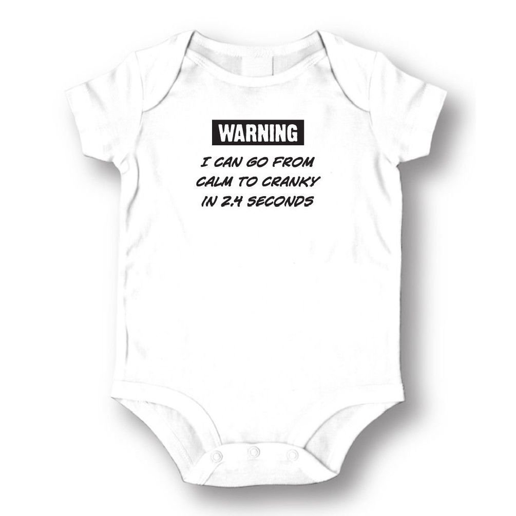 Dustin clothing series Warning I Can Go From Calm To Cranky Baby Boys Girls Toddlers Funny Romper 0-24M