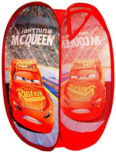 Disney Pixar, Cars Pop Up Laundry,Toys Basket,Storage Bin,Official ()