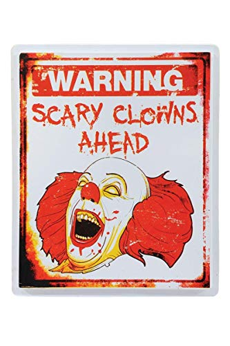 Morbid Enterprises Scary Clown Sign, Red/Black/White, One Size -