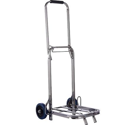 5f943c6b19f4 Amazon.com : YAXuan Hand Trolley, Folding Luggage Cart Portable ...