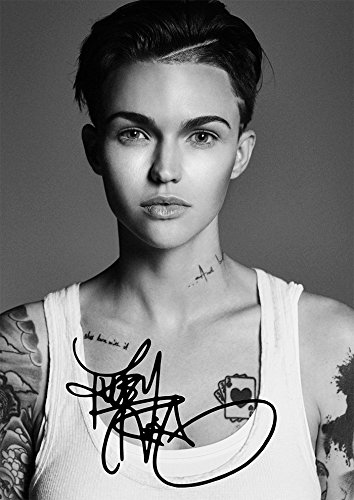 Ruby Rose Print Stunning Beautiful Tattoo Actress Model  11 7  X 8 3