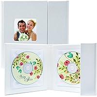 White Supreme Double CD/DVD Holder - Holds 2 Discs