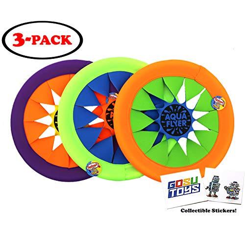 Splash Fun Aqua Flyer Soft Flying Water Disc Frisbee (3 Pack) 12
