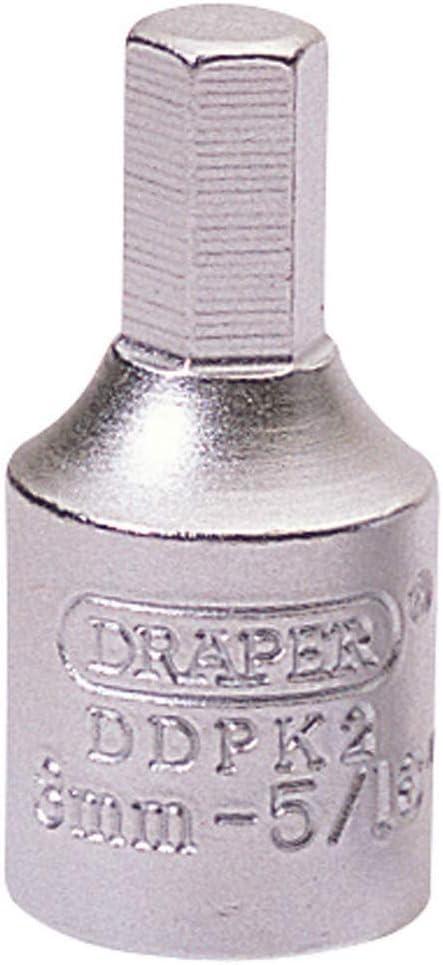 Draper 38321 8mm Hexagon-5//16 3//8 Square Drive Drain Plug Key