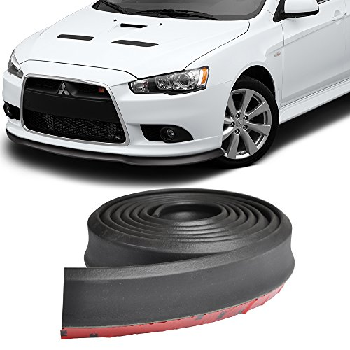 Front Bumper Lip Fits Universal Vehicles | Black Spoiler Splitter Valance Fascia Cover Guard Protection Conversion by IKON MOTORSPORTS