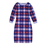 Mommy and Me Matching Plaid Long Sleeve Shirt Dress Princess Tulle Tutu Dress Parent-Child Family Outfits Clothes