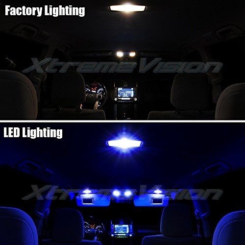 automotive, lights & lighting accessories, accent & off road lighting,  led & neon lights  image, XtremeVision Interior LED for Scion XB XD 2008-2014 (12 Pieces) Blue Interior LED Kit + Installation Tool deals3