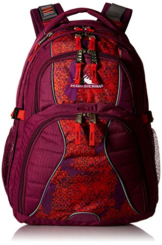 High Sierra Swerve Laptop Backpack, Berry Blast/Moroccan Tile/Redline