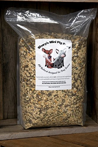Sharp's Mini Pig Food (20 Pound) ALL NATURAL Ingredients