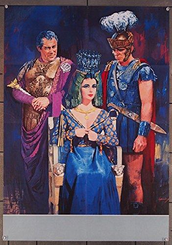 Cleopatra (1963) Original German Roadshow 23x33 Poster Folded Very Fine Condition ELIZABETH TAYLOR REX HARRISON RICHARD BURTON Art by HOWARD TERPNING Film Directed by JOSEPH L. (Elizabeth Fine Art)