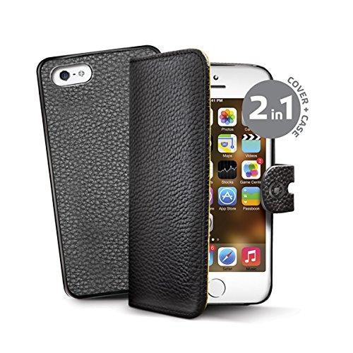 4 opinioni per Celly Custodia a Portafoglio con Cover Staccabile in Pelle Sintetica per iPhone