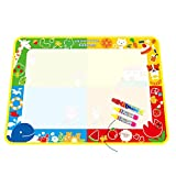 Zaidern New Water Drawing Painting Writing Mat Board Magic Pen Doodle Gift 100X73cm Toys Great Gift for Kids/Baby/Children/Adults (As Show 2)