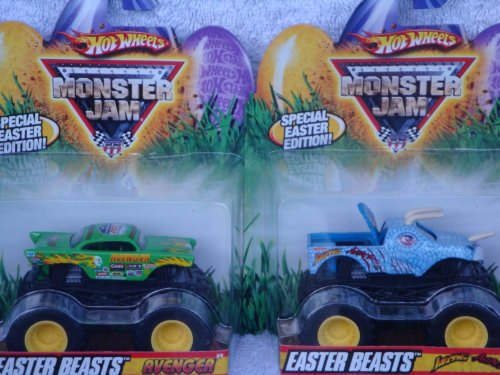 Monster Jam Easter Beasts Series Avenger Vs. Jurassic Attack 1:64 Scale