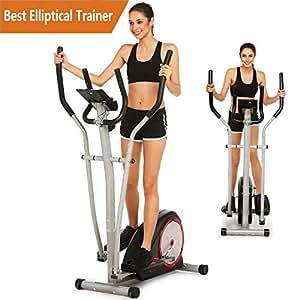 amazon com elliptical trainer machine magnetic smooth quiet driven