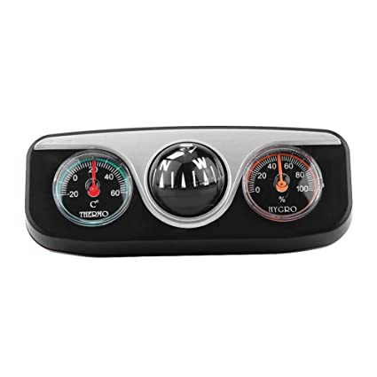 KIMISS 3 in 1 Multi-functional Compass Dash Mount Navigation Direction Digital Compass + Thermometer