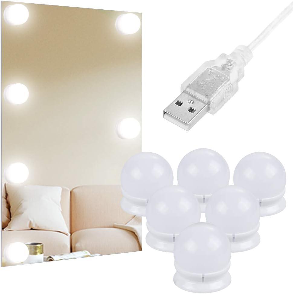 Juego de 6 bombillas regulables Anpro para espejos por sólo 8,49€ con el #código: ETH2ZX9J