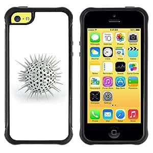Suave TPU GEL Carcasa Funda Silicona Blando Estuche Caso de protección (para) Apple Iphone 5C / CECELL Phone case / / White Spikes /