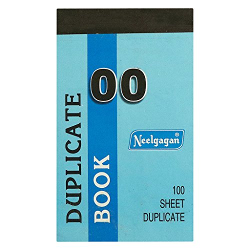 Neelgagan Duplicate Book No. 00, 100+100 Leaves, Pack of 5, 18x10 cm, with Free Carbon Inside (B07DPRY69X) Amazon Price History, Amazon Price Tracker