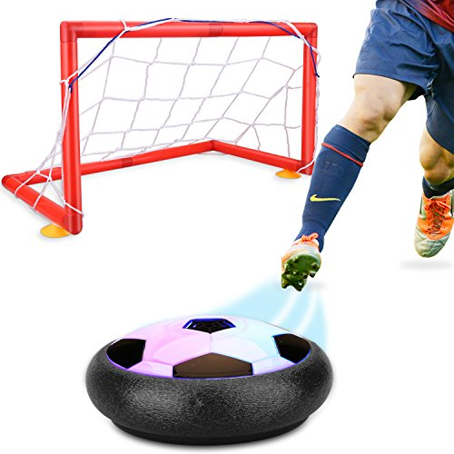 Hover Soccer Ball,Children's Amazing Hover Football, Kids Soccer Goals Set Hover Ball with 2 Gates Sports Training Indoor Outdoor Disk Games with LED Lights Educational Toys Boys Girls Gifts