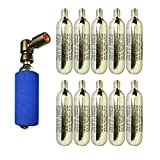 Co2 pump 2in1 Presta & Schrader PUSH'n GO Valve with 10 x CO2 Cartridges Included