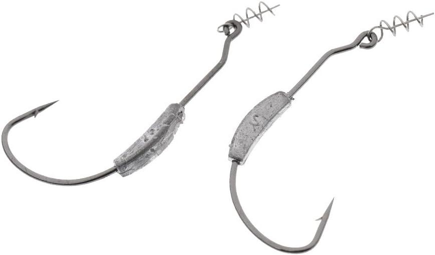 10Pcs Ultra Point Weedless Twistlock Weighted Swimbait Hooks Centering Pins Worms Fishing Hooks