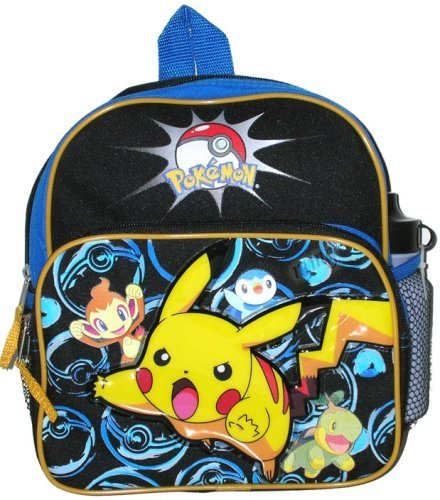 Mini Backpack - Pokemon - Pikachu & Ball (w/ Water Bottle) New Bag bh732 ES Originals Inc BH4283