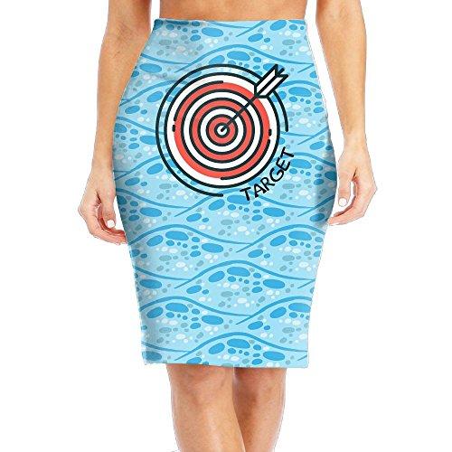 R8e5 Cloth Archery Target Women's Sexy Fit High Waist Midi Slim Pencil Skirt